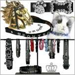 Hundestrassbänder, Katzenstrassbänder, Pferdestirnriemen, Armbänder, Gürtel, Strassschmuck